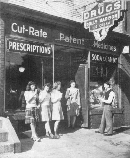 Bullock's Pharmacy, Photo from CHS 1945 Annual, Courtesy of Margaret Minner Turner, Brookhaven, PA