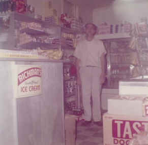 This is a photo of my father in the 1958 store addition.