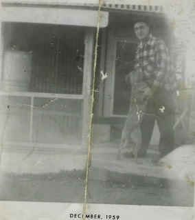 "The previous photo shows Prince, my dad and his racing pigeon loft.  He raced under the name ""Pleasant View Loft."""
