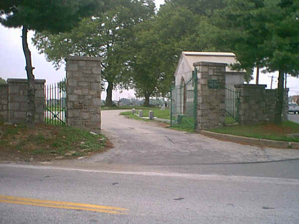 "Immaculate Heart of Mary Cemetery entrance; Photo courtesy of ""Joker"" Jack Chambers, Aston, PA"