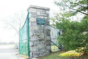 Immaculate Heart of Mary Cemetery Gates; Photo courtesy of Caroline