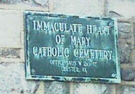 Immaculate Heart of Mary Cemetery Sign; Photo courtesy of Caroline