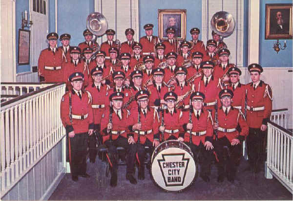 Chester City Band 1960's; Photo courtesy of Maria Zangari-Treesh