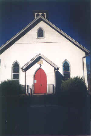 Crozerville United Methodist Church; Photo courtesy of The Rev. Dorothy M. Field, Pastor, August 2001
