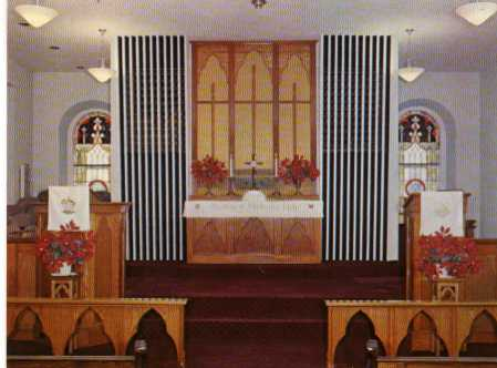 Interior of Upland United Methodist Church; Photo courtesy of Ralph L. Hall