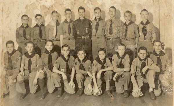 Troop 6, First Presbyterian Church c. 1945; Photo courtesy of Harry Vercoe
