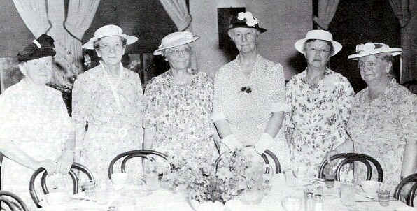 Charter members of the Society: Mrs. Lillian Warnick, Mrs. Bessie Martin, Mrs. Alice Stevenson, Miss Sara Wetherill, Mrs.Elizabeth Pennell and Mrs. Charles Palmer; Photo from The Delaware County Advocate, July 1942