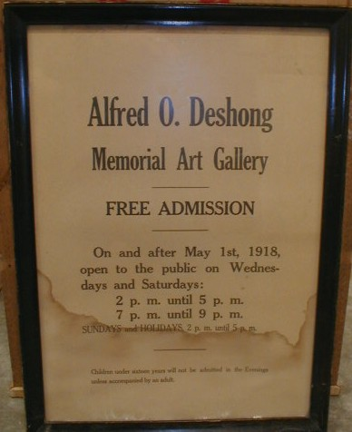Picture of an original Deshong Gallery Sign, courtesy of Widener University Art Collection & Gallery