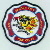Garden City new uniform patch; courtesy of William H. Crystle, 3rd