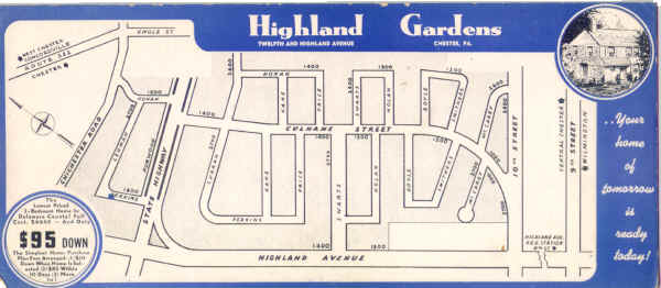 Highland Gardens blotter courtesy of Bill Crowther; Click to zoom in
