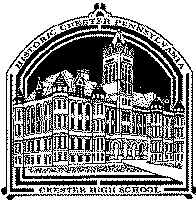 Chester High School Commemorative Ornament; 24kt Gold Finish