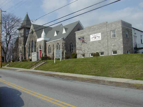 "Prospect Hill Baptist Church; Photo courtesy of ""Joker"" Jack Chambers, April 2001"