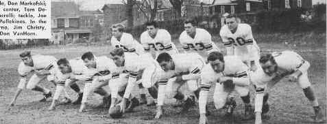 St. James Football 1954; Photo courtesy of Vince Casciato