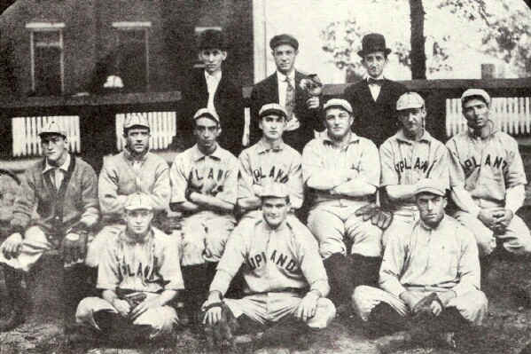 UPLAND BASEBALL TEAM; Photo from The Delaware County Advocate, April 1942