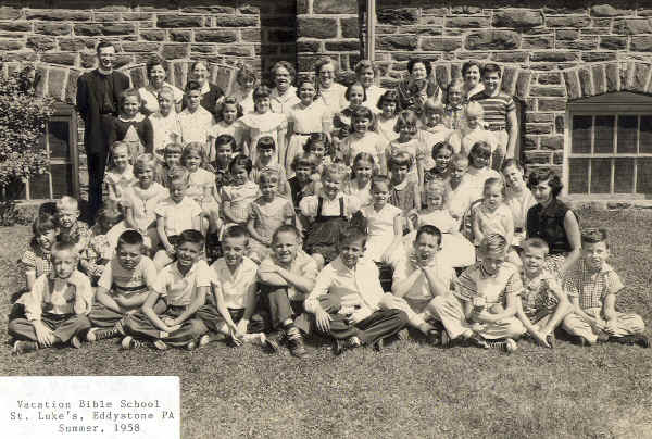 St. Luke's, Eddystone, PA: Vacation Bible School, Summer 1958; Photo courtesy of Fr. Richard Chapin