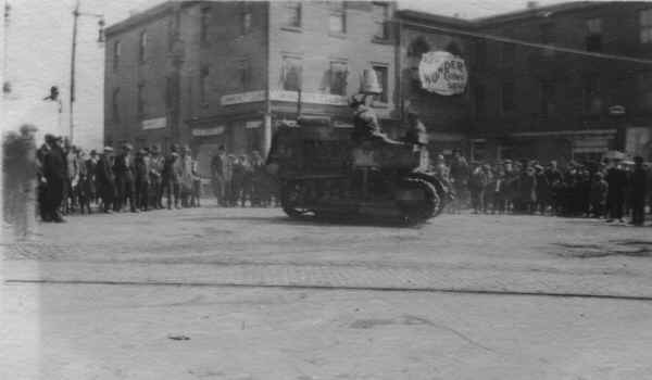 Tractor Market St. 1919; Photo courtesy of Tom Bulger
